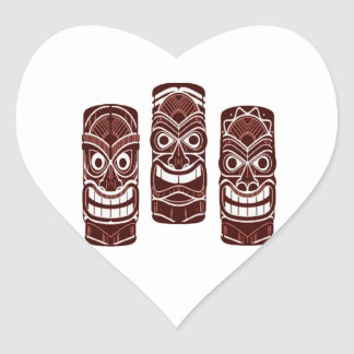 Tiki Time Heart Sticker