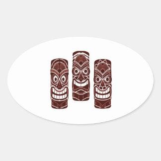 Tiki Time Oval Sticker
