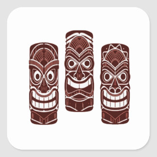 Tiki Time Square Sticker