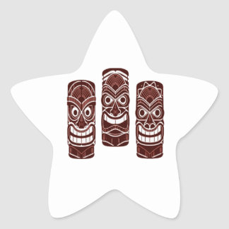 Tiki Time Star Sticker