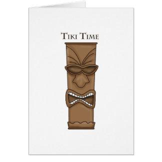 Tiki Time Totem Card