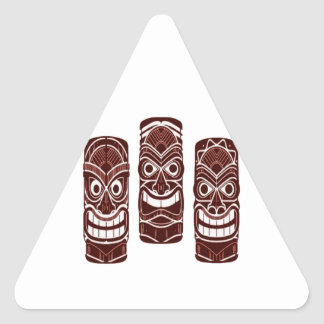 Tiki Time Triangle Sticker