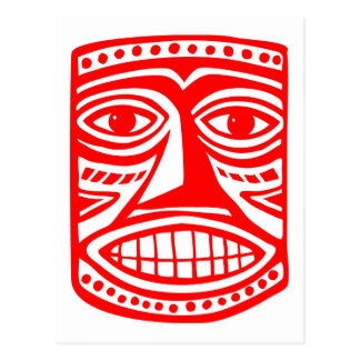 Tiki Toby - Red Postcard