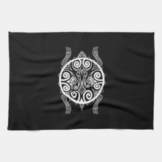 Tiki Warrior Turtle Tattoo Kitchen Towel