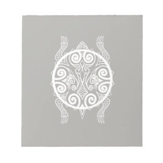 Tiki Warrior Turtle Tattoo Notepad