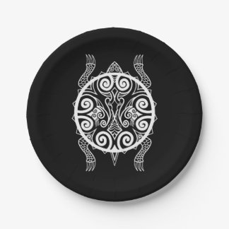 Tiki Warrior Turtle Tattoo Paper Plate