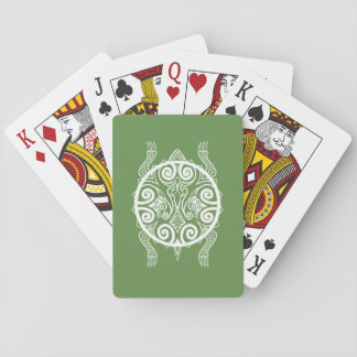 Tiki Warrior Turtle Tattoo Playing Cards