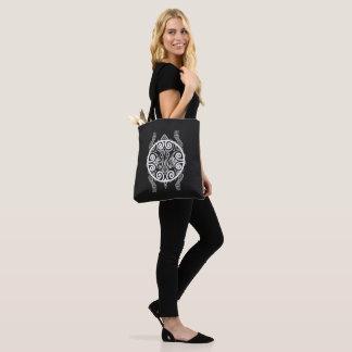 Tiki Warrior Turtle Tattoo Tote Bag