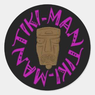 Tikiman Classic Round Sticker