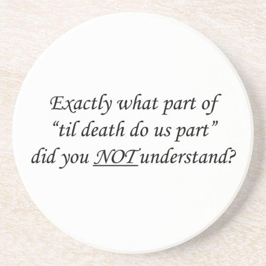 Til Death Do Us Part Coaster