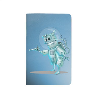 TILDE ROBOT ALIEN CARTOON Pocket Journal