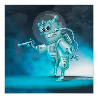 TILDE ROBOT CUTE CARTOON Perfect Poster
