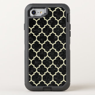 TILE1 BLACK MARBLE & BEIGE LINEN OtterBox DEFENDER iPhone 8/7 CASE