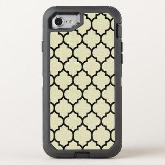 TILE1 BLACK MARBLE & BEIGE LINEN (R) OtterBox DEFENDER iPhone 8/7 CASE