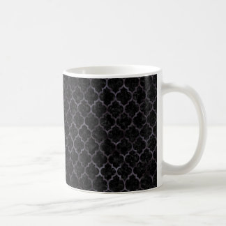 TILE1 BLACK MARBLE & BLACK WATERCOLOR COFFEE MUG