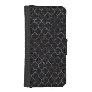TILE1 BLACK MARBLE & BLACK WATERCOLOR iPhone SE/5/5s WALLET CASE