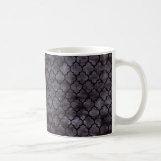 TILE1 BLACK MARBLE & BLACK WATERCOLOR (R) COFFEE MUG