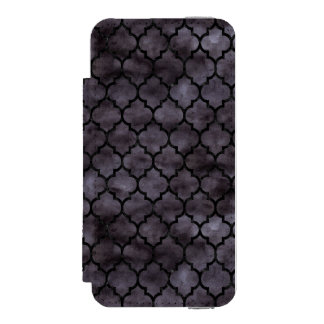 TILE1 BLACK MARBLE & BLACK WATERCOLOR (R) INCIPIO WATSON™ iPhone 5 WALLET CASE