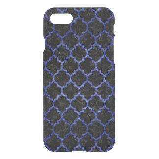 TILE1 BLACK MARBLE & BLUE BRUSHED METAL iPhone 8/7 CASE