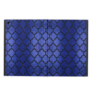 TILE1 BLACK MARBLE & BLUE BRUSHED METAL (R) iPad AIR COVER