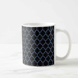 TILE1 BLACK MARBLE & BLUE DENIM COFFEE MUG
