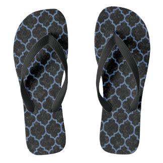TILE1 BLACK MARBLE & BLUE DENIM FLIP FLOPS