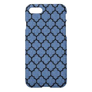 TILE1 BLACK MARBLE & BLUE DENIM (R) iPhone 8/7 CASE