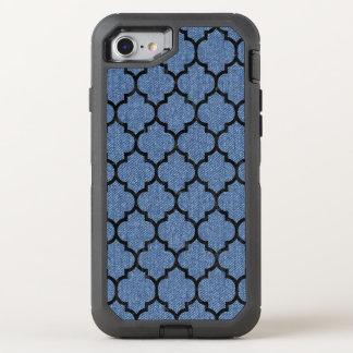 TILE1 BLACK MARBLE & BLUE DENIM (R) OtterBox DEFENDER iPhone 8/7 CASE