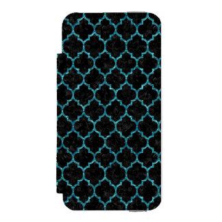 TILE1 BLACK MARBLE & BLUE-GREEN WATER INCIPIO WATSON™ iPhone 5 WALLET CASE