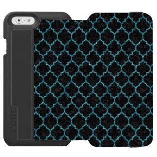 TILE1 BLACK MARBLE & BLUE-GREEN WATER INCIPIO WATSON™ iPhone 6 WALLET CASE