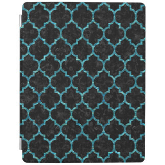 TILE1 BLACK MARBLE & BLUE-GREEN WATER iPad COVER
