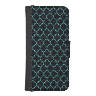TILE1 BLACK MARBLE & BLUE-GREEN WATER iPhone SE/5/5s WALLET CASE