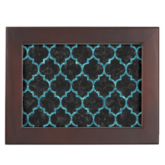 TILE1 BLACK MARBLE & BLUE-GREEN WATER KEEPSAKE BOX