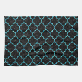 TILE1 BLACK MARBLE & BLUE-GREEN WATER KITCHEN TOWEL