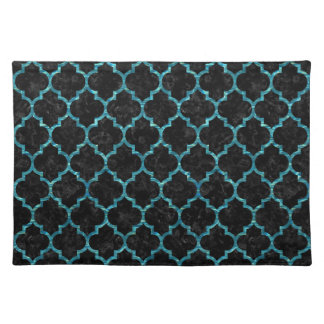 TILE1 BLACK MARBLE & BLUE-GREEN WATER PLACEMAT