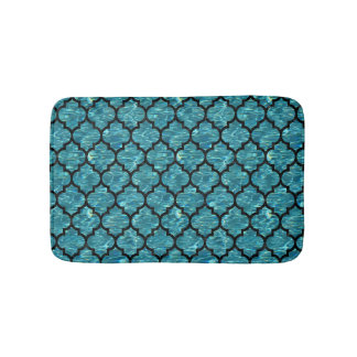 TILE1 BLACK MARBLE & BLUE-GREEN WATER (R) BATH MAT