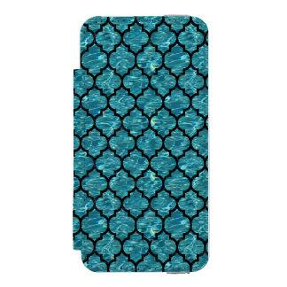 TILE1 BLACK MARBLE & BLUE-GREEN WATER (R) INCIPIO WATSON™ iPhone 5 WALLET CASE