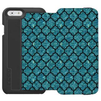 TILE1 BLACK MARBLE & BLUE-GREEN WATER (R) INCIPIO WATSON™ iPhone 6 WALLET CASE