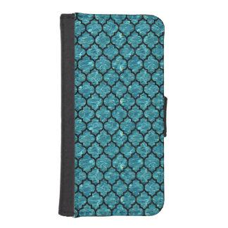 TILE1 BLACK MARBLE & BLUE-GREEN WATER (R) iPhone SE/5/5s WALLET CASE