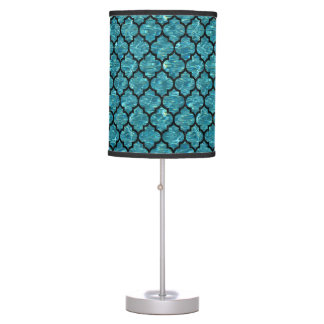 TILE1 BLACK MARBLE & BLUE-GREEN WATER (R) TABLE LAMP