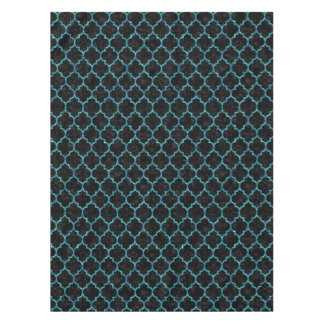 TILE1 BLACK MARBLE & BLUE-GREEN WATER TABLECLOTH
