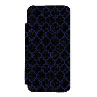 TILE1 BLACK MARBLE & BLUE LEATHER INCIPIO WATSON™ iPhone 5 WALLET CASE