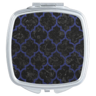 TILE1 BLACK MARBLE & BLUE LEATHER MIRROR FOR MAKEUP