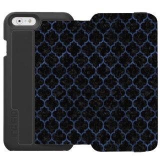 TILE1 BLACK MARBLE & BLUE STONE INCIPIO WATSON™ iPhone 6 WALLET CASE