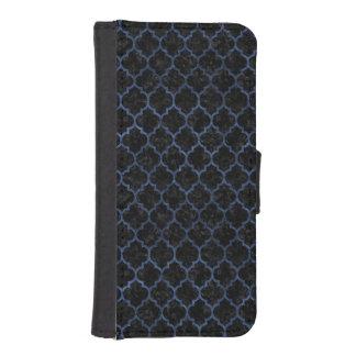 TILE1 BLACK MARBLE & BLUE STONE iPhone SE/5/5s WALLET CASE