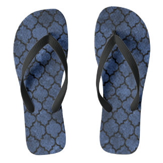 TILE1 BLACK MARBLE & BLUE STONE (R) FLIP FLOPS
