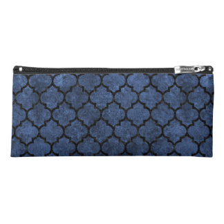 TILE1 BLACK MARBLE & BLUE STONE (R) PENCIL CASE