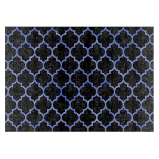 TILE1 BLACK MARBLE & BLUE WATERCOLOR CUTTING BOARD