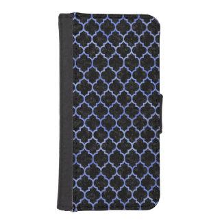 TILE1 BLACK MARBLE & BLUE WATERCOLOR iPhone SE/5/5s WALLET CASE