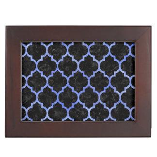 TILE1 BLACK MARBLE & BLUE WATERCOLOR KEEPSAKE BOX